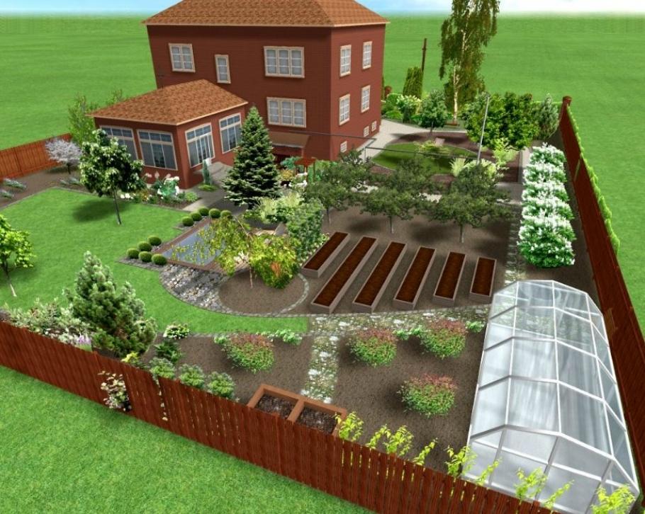 Планировка дизайн садового участка